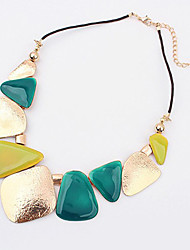 Women's Statement Necklaces Alloy Fashion Blue Pink Rainbow Jewelry Special Occasion Birthday Gift