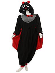 kigurumi Pyjamas Chauve souris Collant/Combinaison Fête / Célébration Pyjamas Animale Halloween Noir Mosaïque Polaire Kigurumi Pour