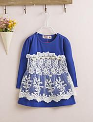 Girl's Floral Dress Spring Fall Long Sleeve