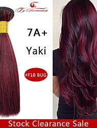 1Pc/Lot 7A Brazilian Virgin YaKi Hair Piano Natural Color Straight Human Hair Weave ,10'' Hair Weft