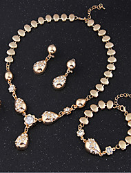 May  Polly Hot star banquet Necklace Bracelet Earring Set Ring