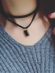 Necklace Choker Necklaces / Layered Necklaces Jewelry Daily / Casual Fabric Black 1pc Gift