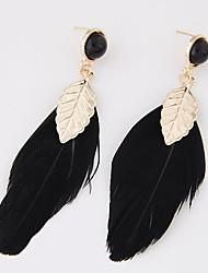 Earring Leaf Drop Earrings Jewelry Women Party / Daily / Casual Alloy 2pcs Gold