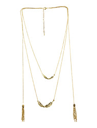 Necklace Pendant Necklaces / Chain Necklaces / Strands Necklaces Jewelry Party / Daily / Casual / Sports Alloy Gold 1pc Gift