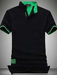 男性用 半袖 ポロシャツ,コットン / ポリエステル カジュアル / プラスサイズ プレイン