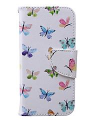 Pour Coque iPhone 6 / Coques iPhone 6 Plus Portefeuille / Porte Carte / Avec Support / Clapet / Motif Coque Coque Intégrale Coque Papillon