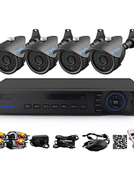 YanSe® 4CH DVR Kit CCTV Cameras Seystem IR Color Waterproof Security Cameras (8CH 960H HDMI DVR) 1100TVL 3.6mm