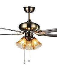 Ceiling Fans Luxe Eco Modern Ceiling Fan With Light , 42-Inch Blades, Brushed Steel Finish