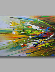 "Ready to hang Stretched Hand-Painted Oil Painting Canvas 36""x24""  Wall Art Abstract Contempory Blue Green Yellow"
