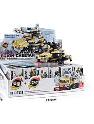 6 in 1 Anti-terrorism Forces Model Building Blocks Development Model Plastic Fighter Hobby