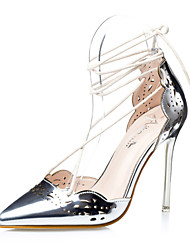 Women's Shoes Stiletto Heel Heels / Gladiator / Pointed Toe / Closed Toe Sandals Dress Black / Silver / Gold