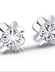 925 Silver Sterling Silver Jewelry Earrings Sample Lovely Clover Stud Earring 1Pair
