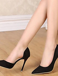 DamenBüro Kleid-Kunstleder-Stöckelabsatz-Komfort-Schwarz Orange