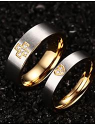 aaa zirkonium drill kruis hartvormige liefhebbers ring