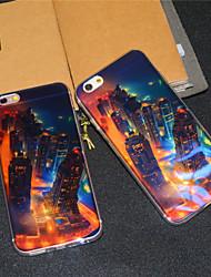 Для Кейс для iPhone 6 / Кейс для iPhone 6 Plus С узором Кейс для Задняя крышка Кейс для Панорама города Мягкий TPUiPhone 6s Plus/6 Plus /