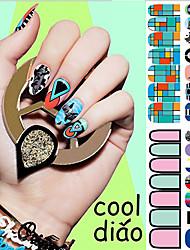 So Cool!2016 Popular Stickers Series Big Eyes Nail Art Stickers 14PCS