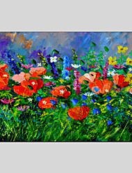 Ручная роспись Цветочные мотивы/ботаническийModern / Классика / Европейский стиль 1 панель Холст Hang-роспись маслом For Украшение дома