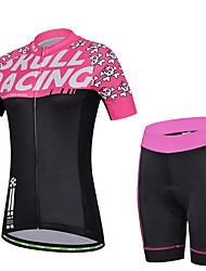 CHEJI Women's Short Sleeve Cycling Jersey + Bike Short Sleeve Suit