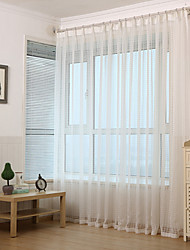 Jacquard Checked  Sheer Curtain (Two Panel)
