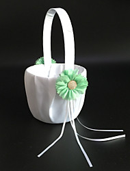Flower Basket Satin Garden Theme/Vegas Theme/Classic Theme With Bow