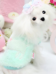 Dog Clothes/Jumpsuit / Clothes/Clothing Green / Pink Winter Solid Fashion