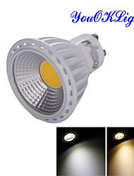 6W GU10 Lâmpadas de Foco de LED R63 1 COB 600 lm Branco Quente / Branco Frio Decorativa AC 85-265 / AC 220-240 / AC 110-130 V 1 pç