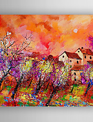 Oil Painting Color Landscape  Hand Painted Canvas with Stretched Framed Ready to Hang