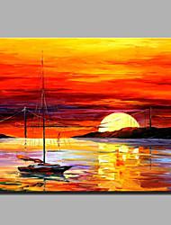 pintura a óleo moderna mão puro abstrato desenhar pronto para pendurar decorativo cena do pôr do sol