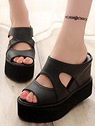 Women's Shoes Flange Hollow Out Peep Toe Platform Comfort Sandals Dress