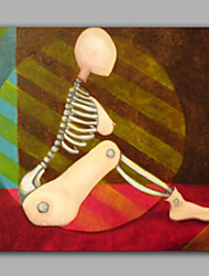 современная стена обрамлении люди картина маслом абстрактный стиль