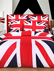 Baolisi Union Jack Duvet Cover Set Bedding  Set of 4pcs/ QueenSize
