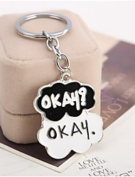 Movie The Fault in Our Stars Okay Alloy Key Chain High Quality Pendant Keychain With Enamel Size 3.4*4.4cm