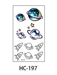(1pcs) New Design Fashion Planet & Spaceship Temporary Tattoo Stickers Temporary Body Art Waterproof Tattoo Pattern