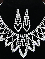 Women's Shiny Luxury Rhinestone Bridal Sets Bridal Accessories  Necklace Earrings Set Wedding Party Gift