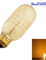 1 шт. YouOKLight E26/E27 40W 1 COB 400 LM Тёплый белый B edison Винтаж Круглые LED лампы AC 220-240 / AC 110-130 V
