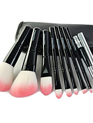 9 Pcs Makeup Brushes Set Synthetic Hair Professional / Travel / Portable Wood Face / Eye / Lip Others
