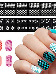 Easy Stamping Tool Nail Art Template Stickers Stamp Stencil Guide Reusable