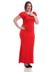 Women's Sexy Lace Splicing Thigh High Split Maxi Dress