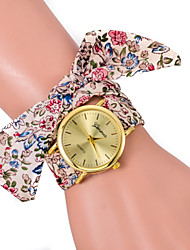 L.WEST Ladies' Stripe Cloth Belt Quartz Watch Cool Watches Unique Watches