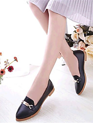 Women's Shoes Leatherette Spring / Fall Comfort / Pointed Toe Outdoor / Casual Flat Heel Black / Red / White