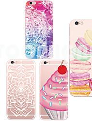crème maycari®ice douce dos tpu étui transparent pour iphone 6 plus / 6s et plus (couleurs assorties)