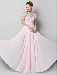 TS couture® выпускного вечера официально платье вечера-линии вне плечу длиной до пола, шифона с аппликациями