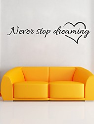 NEVER STOP Letter decoration  home adesivo parede muursticker pegatina de pared plastic wall stickers