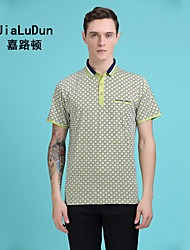 2016 New Fashion Men's Polo Shirt Print T Shirt Bright Green Short Sleeve Shirt Bright Orange Luxure Shirt