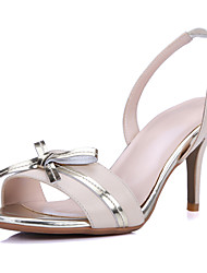 Women's Shoes Cowhide Stiletto Heel Heels / Peep Toe / Fashion Boots Sandals Outdoor / Office & Career / Party & Evening