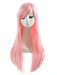 розовый цвет косплей синтетические парики дешевые прямые парики модные парики