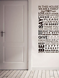 Large SIZE:560x1280mm Fashion Vinyl Family Wall The Word Wall Stick Vinyl Wall Applique Home Decoration