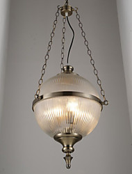 Iron Bronze Chandelier Lamp Glass