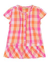 Vestido Chica deAlgodón-Verano-Naranja