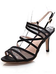 Women's Shoes Silk Stiletto Heel Heels / Peep Toe / Fashion Boots / Gladiator Sandals Outdoor / Office & Career